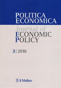 Politica economica-Journal of economic policy (2016). Vol. 3