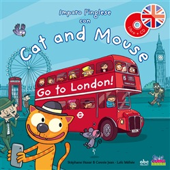 Image of Imparo l'inglese con cat and mouse. Go to London! Con CD Audio - Step