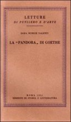 La «Pandora» do Goethe