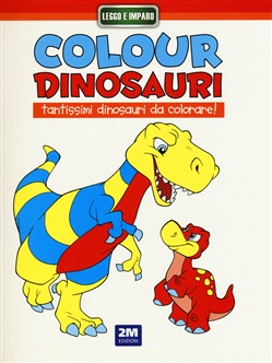 Image of Colour dinosauri rosso