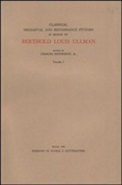 Classical medieval and Renaissance studies in honor of Berthold Louis