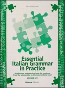 Essential italian grammar in practice - Key