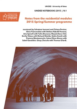 Image of Unidee notebooks (2015). Vol. 1: Notes from the residential modules.