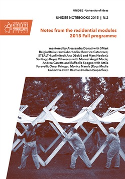 Image of Unidee notebooks (2015). Vol. 2: Notes from the residential modules.