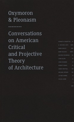 Image of Oxymoron and pleonasm. Conversations on American critical and project