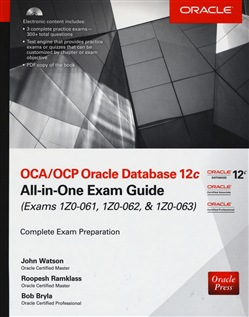 Image of OCA/OCP Oracle Database 12c all-in-one exam guide (Exams 1Z0-061, 1Z0