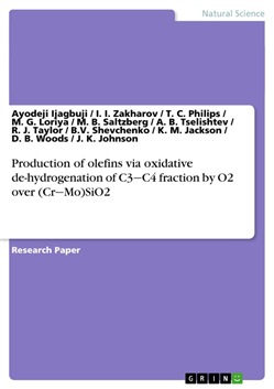 Production of olefins via oxidative de-hydrogenation of C3-C4 fraction by O2 over (Cr-Mo)SiO2