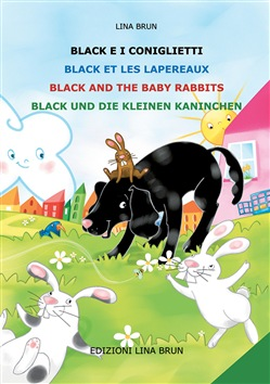 Image of Black e i coniglietti-Black et les lapereaux-Black and the baby rabbi