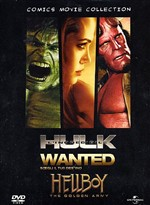 Wanted / L'incredibile Hulk / Hellboy - The Golden Army (3 Dvd)