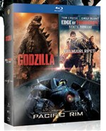 Godzilla / Edge Of Tomorrow / Pacific Rim Boxset (3 Blu-Ray)
