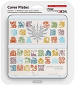 New 3ds Coverplate Monster Hunter 4 Whit