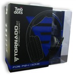 Two Dots Cuffie Tornado 2.0 Blu Ps4