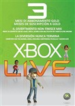 Card Live Gold 3 Mesi Xbox 360