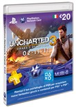 psn cards 20 euro unchart...