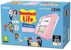 Image of Console 2ds Rosa-bianco + Tomodachi Life