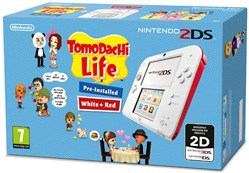 Image of Console 2ds Bianco-rosso + Tomodachi