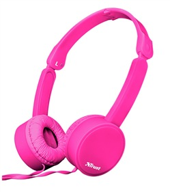 TRUST Nano Foldable Headphones - pink