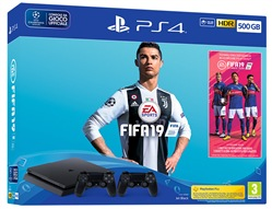 Image of Console PS4 500gb + Fifa 19 + Joypad DS4