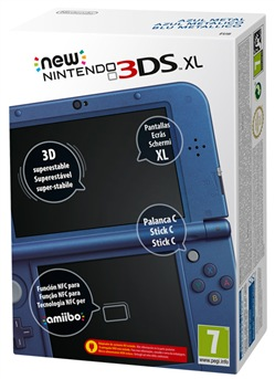 Image of Console New 3ds Xl Metallic Blue