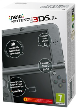 Console New 3ds Xl Metallic Black
