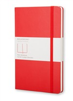 Moleskine Taccuino Rosso A Pagine Bianche - Large