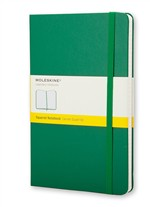 Moleskine  Notebook Large Squared Oxide Green Hard