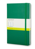 Moleskine  Notebook Large Plain Oxide Green Hard