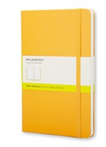 Moleskine  Notebook Large Plain Orange Yellow Hard