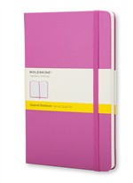 Moleskine  Notebook Large Squared  Magenta Hard