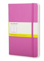 Moleskine  Notebook Large Plain  Magenta Hard