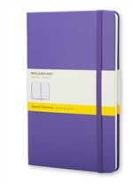 MoleskineNotebook Large Squared Brilliant Violet Hard