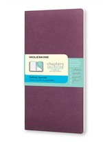 Moleskine Taccuino Chapters Journal Slim Pocket Puntinato Viola Prugna