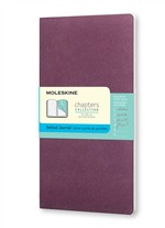 Moleskine Taccuino Chapters Journal Slim Medium Puntinato Viola Prugna