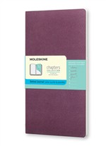Moleskine Taccuino Chapters Journal Slim Large Puntinato Viola Prugna