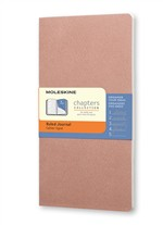 Moleskine Taccuino Chapters Journal Slim Pocket A Righe Rosa Antico