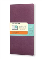 Moleskine Taccuino Chapters Journal Slim Pocket A Righe Viola Prugna