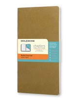 Moleskine Taccuino Chapters Journal Slim Pocket A Righe Oliva Fulvo