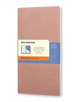 Moleskine Taccuino Chapters Journal Slim Medium A Righe Rosa Antico