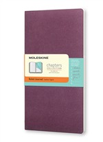 Moleskine Taccuino Chapters Journal Slim Medum A Righe Viola Prugna