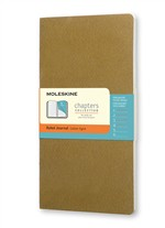 Moleskine Taccuino Chapters Journal Slim Medum A Righe Oliva Fulvo