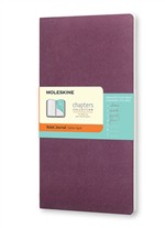 Moleskine Taccuino Chapters Journal Slim Large A Righe Viola Prugna