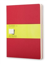 Moleskine Quaderni Cahier a pagine bianche Extra Large Cranberry Red