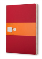 Moleskine Quaderni Cahier a righe Extra Large Cranberry Red