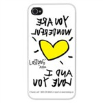 Slim Hard Case Wonderful Mirror per Iphone 4/4S Bianca