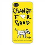 Slim Hard Case Change for Good per Iphone 4/4S Gialla