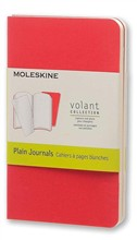 Moleskine Quaderno Volant Journal a pagine bianche Extra Small Geranium Red