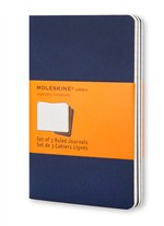 Moleskine Quaderni Cahier a righe Large Indigo Blue