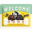 Cartello Tin Sign 15 x 20cm Welcome Puppies, 20x0x15 cm