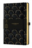 Taccuino Notebook Castelli Gold, Art Deco Medium A Righe - 13x21 cm