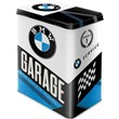 Scatola L Tin Box L BMW - Garage, 14x20x10 cm